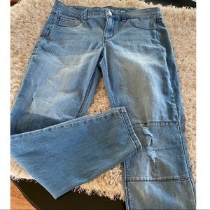 WHBM Distressed Jegging Skinny Jeans Large